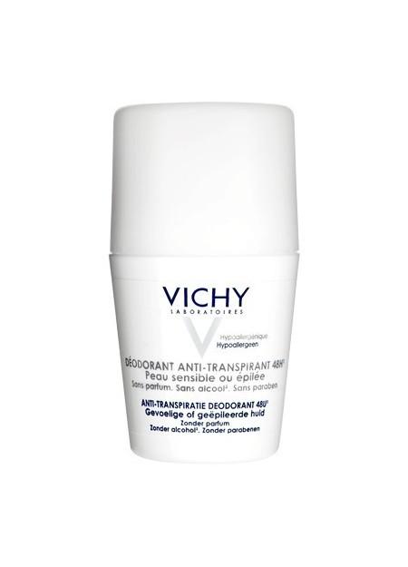 VICHY Déodorant 48H Peaux Sensibles ou Epilées - 50 ml