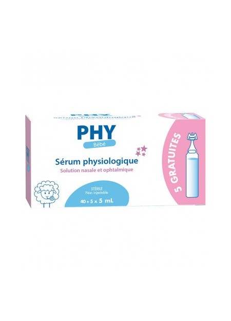 LABORATOIRES GILBERT PHYSIODOSE, Sérum physiologique - Boîte 40 doses + 5 doses offertes