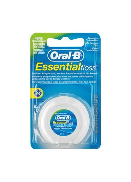 ORAL-B EssentialFloss Fil Dentaire Ciré Menthe 50 Mètres