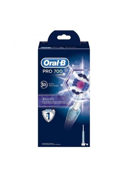 ORAL B Brosse à dents électrique Pro 700 3D White - 1 unité