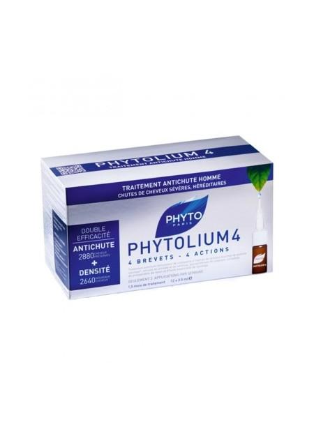 PHYTO PHYTOLIUM, 4 concentré intensif antichute - 12 fioles de 3,5 ml