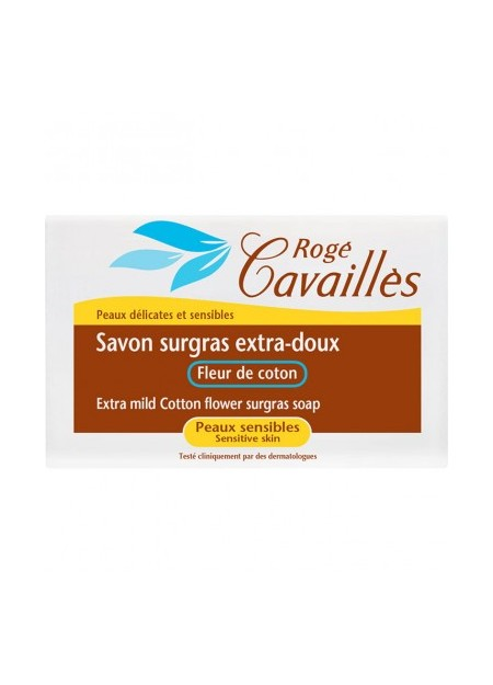 ROGÉ CAVAILLES Savon surgras extra-doux Fleur de Coton 150g