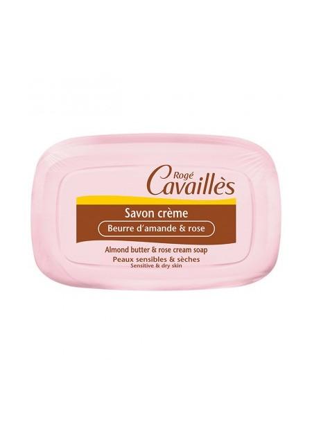 ROGÉ CAVAILLES Savon Crème Beurre d'Amande et Rose. Pain 115 g