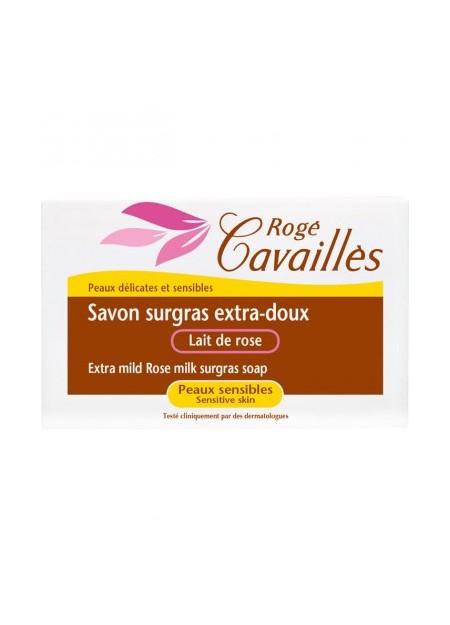 ROGÉ CAVAILLES Savon Surgras Extra-doux Lait de Rose - 1 Pain 150g