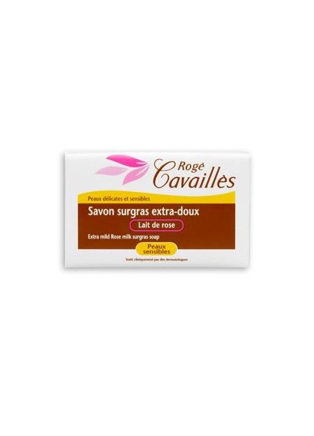ROGÉ CAVAILLES SAVONS SOLIDES, Savon surgras extra-doux Lait de Rose - 250g