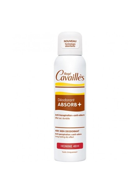 ROGÉ CAVAILLES DEODORANTS, Deo Absorb + Spray Homme - 150 ml