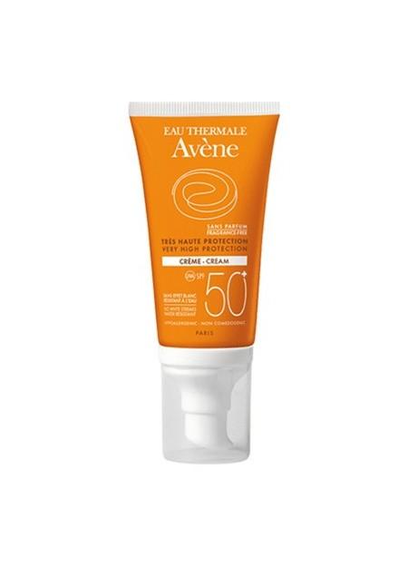 AVENE SOLAIRE, Crème SPF50+ - Sans parfum - 50 ml