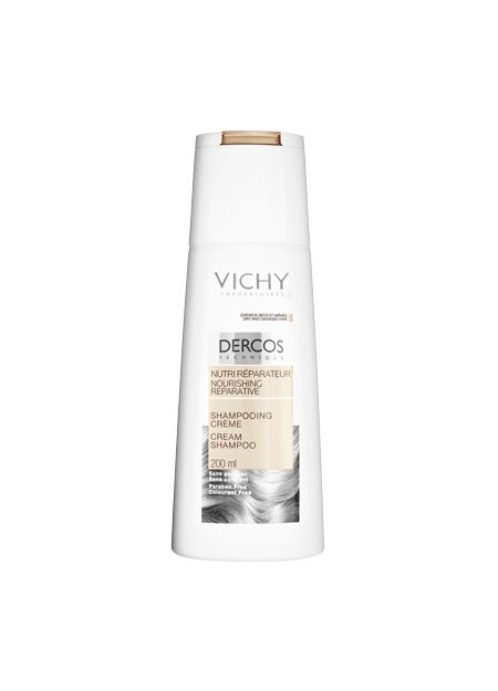 VICHY DERCOS Shampooing Crème Nutri Réparateur - 200 ml