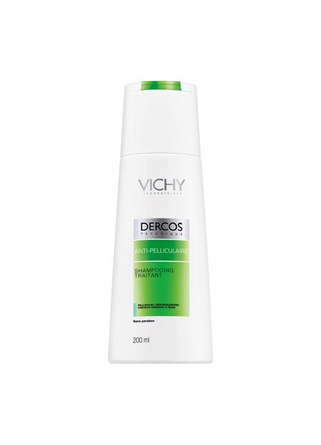 VICHY DERCOS Anti-pelliculaire Sampooing Traitant Cheveux Normaux à Gras - 200 ml