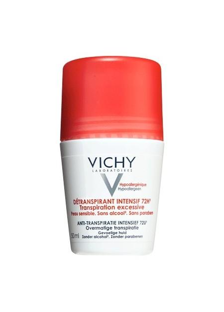 VICHY Détranspirant intensif efficacité 72H, peaux sensibles - Bille 50 ml