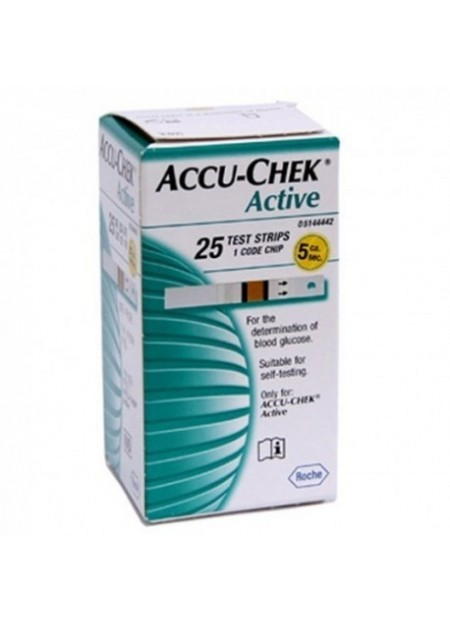 ACCU-CHEK active BANDELETTES/25