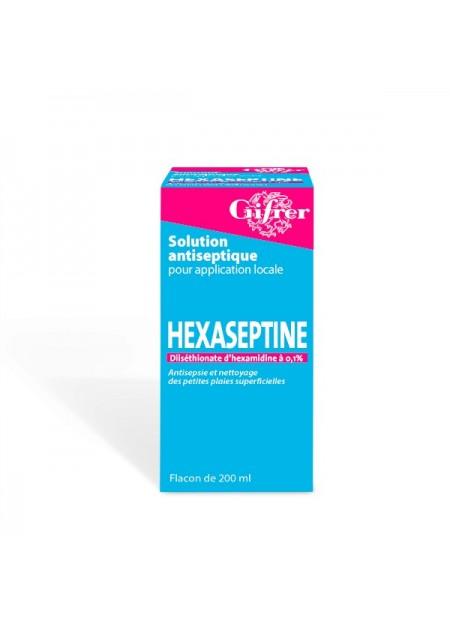 GIFRER HEXASEPTINE 0,1 POUR CENT, solution pour application cutanée en flacon 75ml