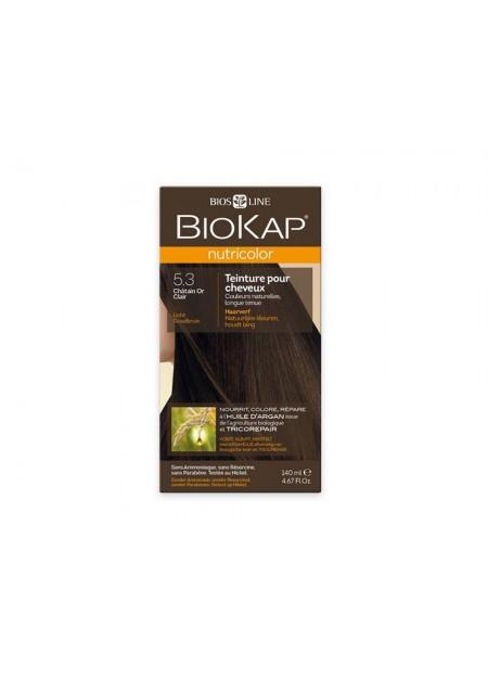 BIOKAP NUTRICOLOR TEINTURE POUR CHEVEUX CHATAIN OR CLAIR 5.3