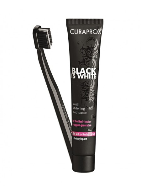 CURAPROX BLACK IS WHITE DENTIFRICE + BAD