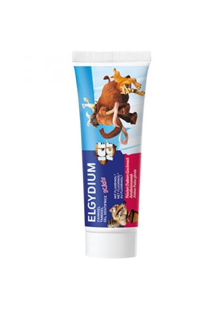 ELGYDIUM KIDS Gel dentifrice Protection Caries arôme Fraise Givrée 2-6 ans - 50 ml