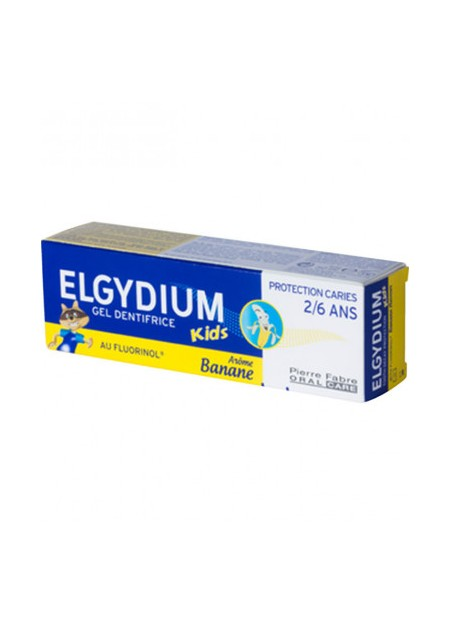 ELGYDIUM Dentifrice Protection Caries arôme Banane 2-6 ans - 50 ml
