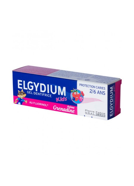 ELGYDIUM KIDS Gel Dentifrice Grenadine 2/6 Ans - 50 ml