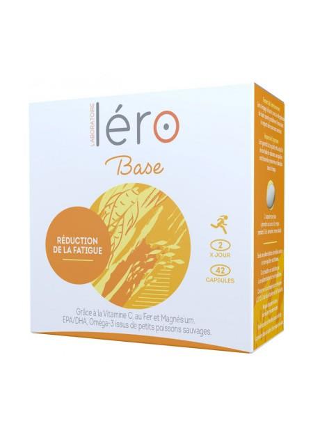 LERO BASE Complément Alimentaire Réduction de la Fatigue. Boîte 42 Capsules