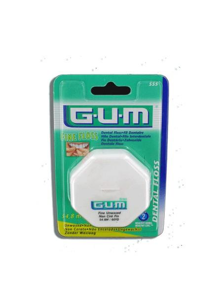 GUM DENTAL FLOSS Fil Dentaire Non Ciré 555