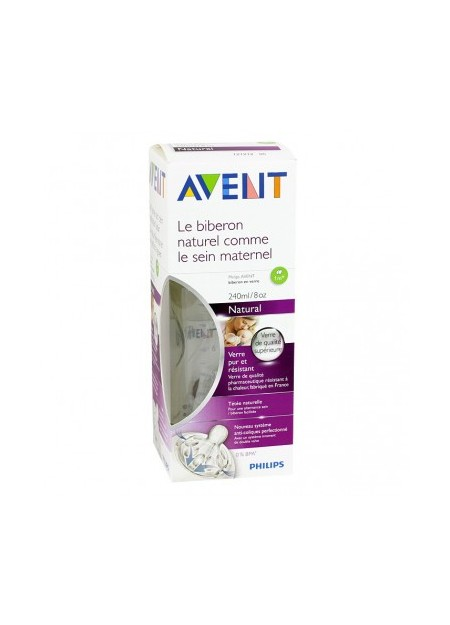 AVENT Biberon en Verre Natural 1m+ 240ml