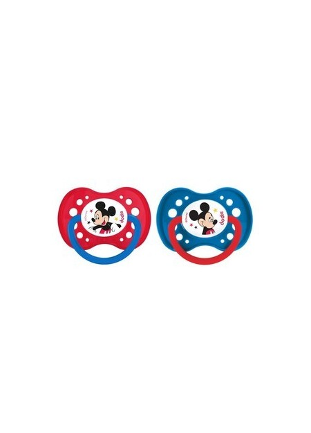 "dodie 1 Sucette +18 mois ""DUO MICKEY"" silicone avec anneau N°A65"