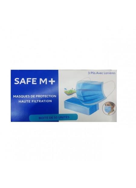 Masques de protection Safe m+ -  50 unités