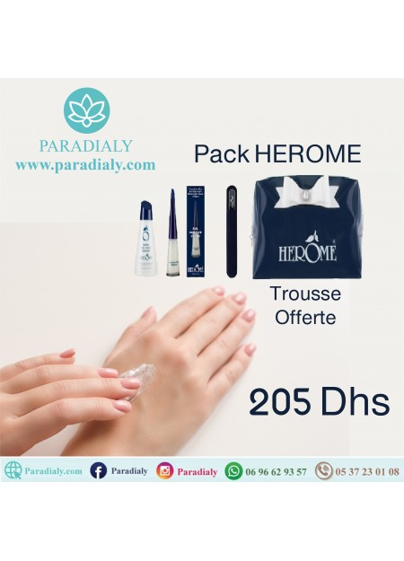 HEROME DURCISSEUR FORT 10 ML + MINI LIME EN VERRE