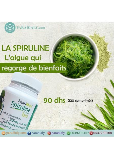 Spiruline bio Nutrimax 120 comprimés