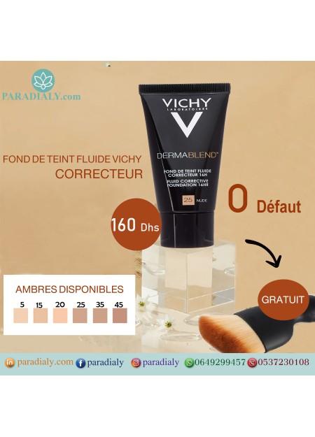 VICHY DERMABLEND FOND DE TEINT FLUIDE CORRECTEUR 16H SPF35 30ML
