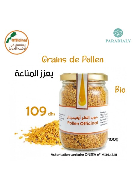 LES GRAINS DE POLLEN OFFICINAL 100G