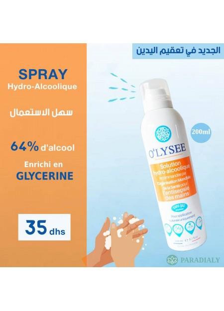 O'LYSEE Solution hydro-alcoolique pour l'antisepsie des mains 200m