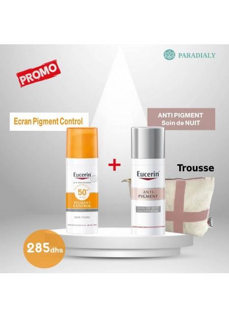 eucerin anti pigment soin de nuit  + ecran sun fluid pigment control  OFFERT
