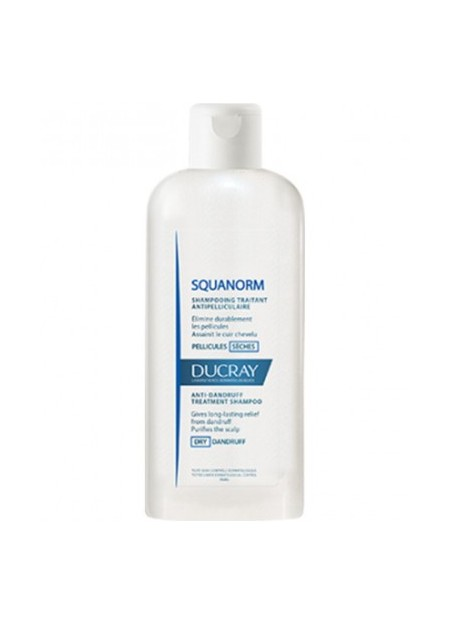 DUCRAY SQUANORM Shampooing Antipelliculaire, Pellicules Sèches - 200 ml
