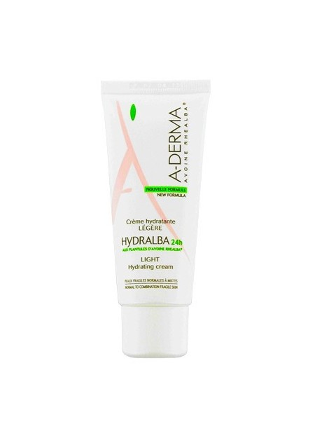 A-DERMA HYDRALBA Crème Hydratante Légère - 40 ml