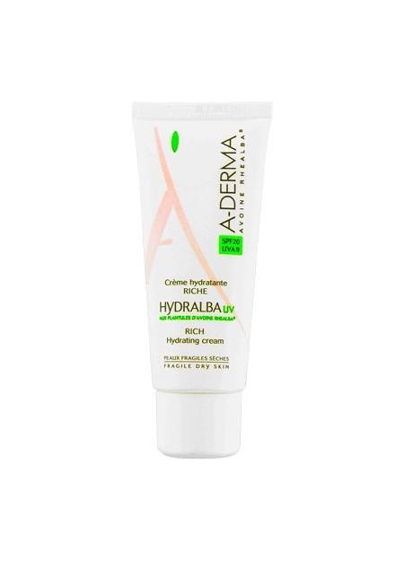 A-DERMA HYDRALBA UV Crème Hydratante Riche SPF20 - 40 ml