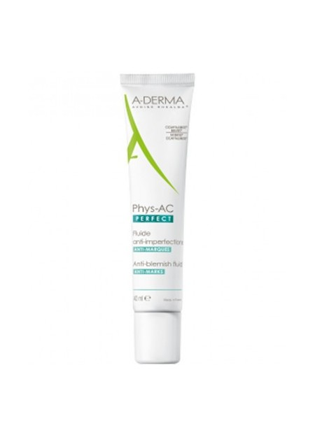 A-DERMA A-DERMA PHYS-AC PERFECT Fluide Anti-imperfection et Anti-Marques. Tube 40 ml