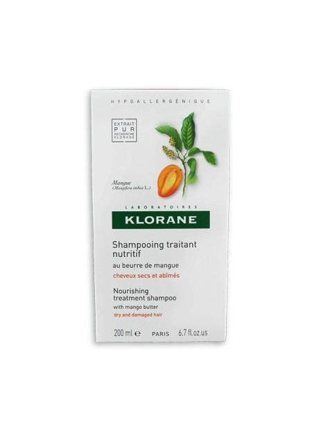 KLORANE Shampooing Traitant Nutritif au Beurre de Mangue - 200 ml
