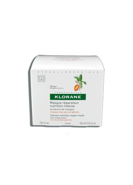 KLORANE Masque Réparateur Nutrition Intense au Beurre de Mangue - 150 ml