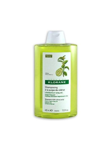 KLORANE Shampooing Vitaminé à la pulpe de Cédrat - 400 ml