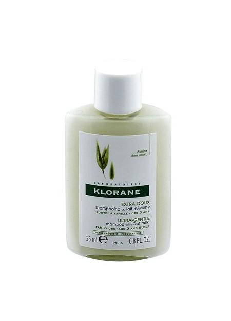 KLORANE LAIT D'AVOINE Shampooing. Tube 25 ml
