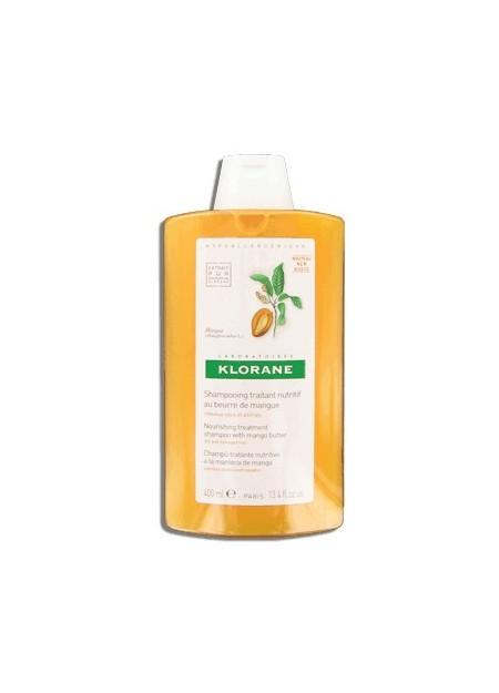 KLORANE Shampooing Traitant Nutritif au Beurre de Mangue - 400 ml