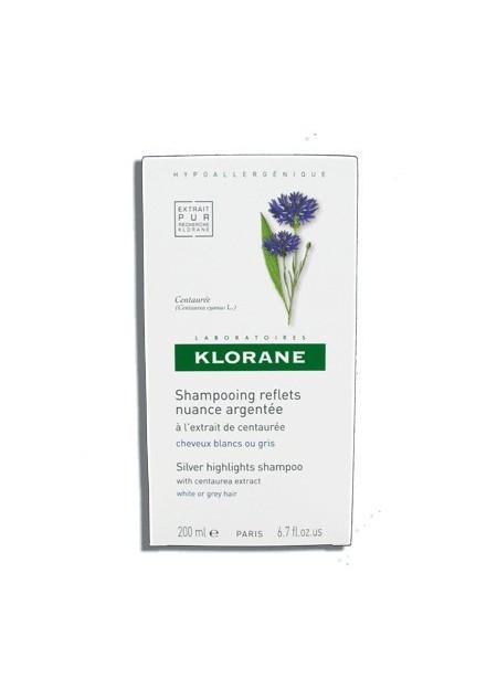 KLORANE Shampooing Reflets Nuance Argentés à l'Extrait de Centaurée - 200 ml
