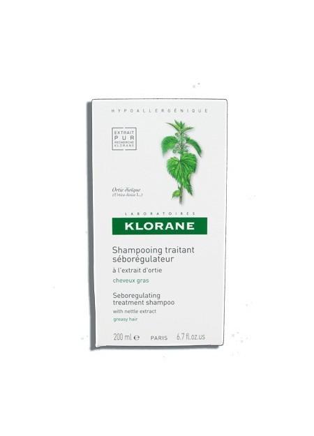 KLORANE Shampooing Traitant Séborégulateur à l'extrait d'Ortie - 200 ml