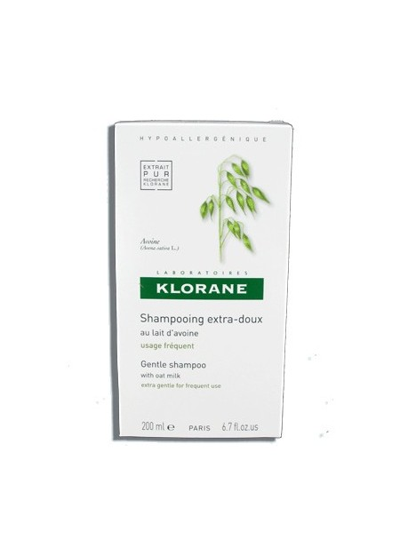 KLORANE Shampooing Extra-doux au Lait d'Avoine - 200 ml