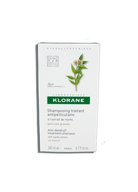 KLORANE Shampooing Traitant Antipelliculaire à l'Extrait de Myrte - 200 ml