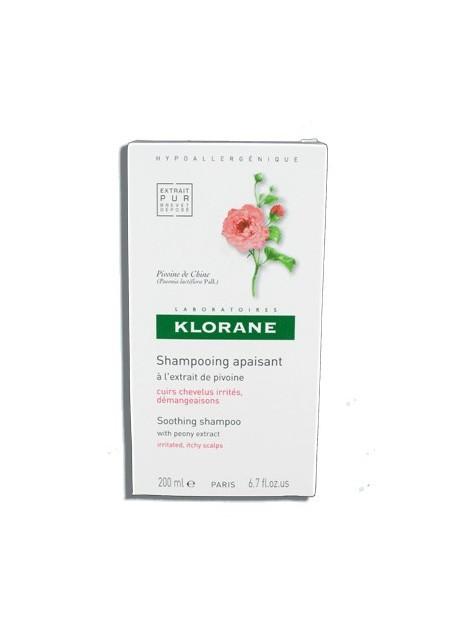 KLORANE Shampooing Apaisant à l'extrait de Pivoine - 200 ml