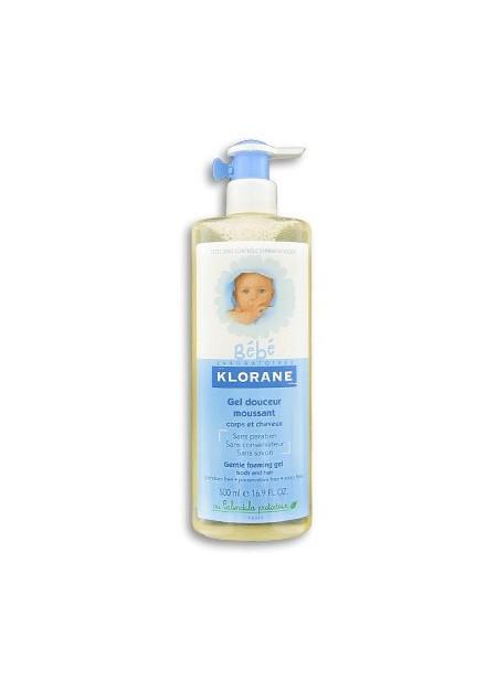 KLORANE BEBE Gel Douceur Moussant Corps et Cheveux - 500 ml