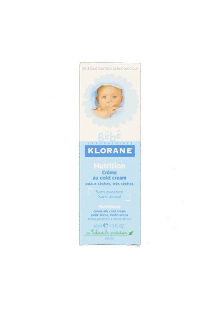 KLORANE BEBE Nutrition crème au cold cream. Tube 40 ml