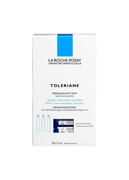 LA ROCHE-POSAY TOLERIANE, Démaquillant visage et yeux - 30x5 ml