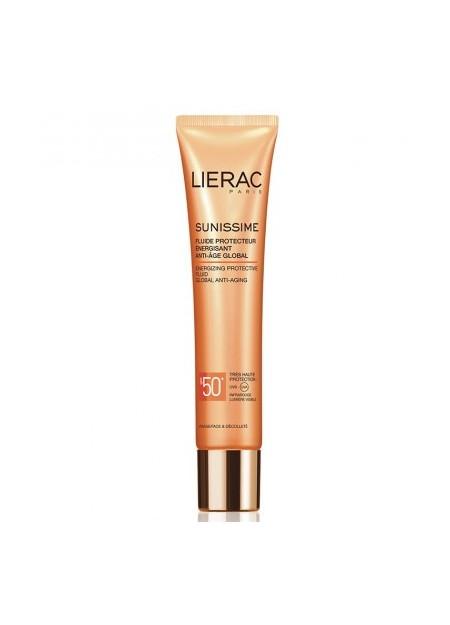 LIERAC SUNISSIME, Fluide protecteur énergisant SPF50+ anti age global - 40 ml